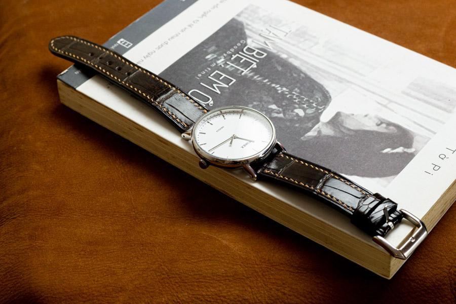 Dây đồng hồ da cá sấu handmade HBDDCS06