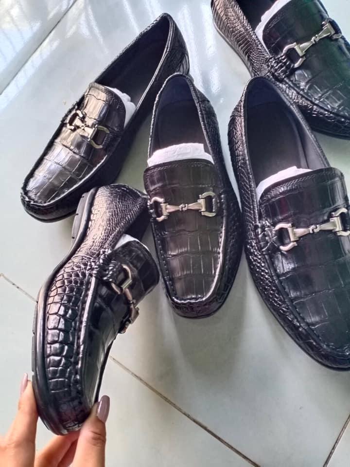 Giày Lười Da Cá Sấu HBGLDCS01