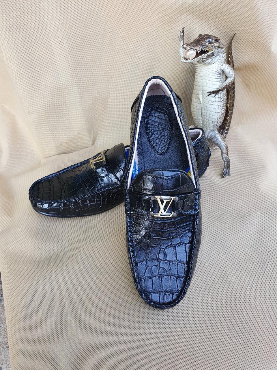 Giày Lười Da Cá Sấu HBGLDCS03