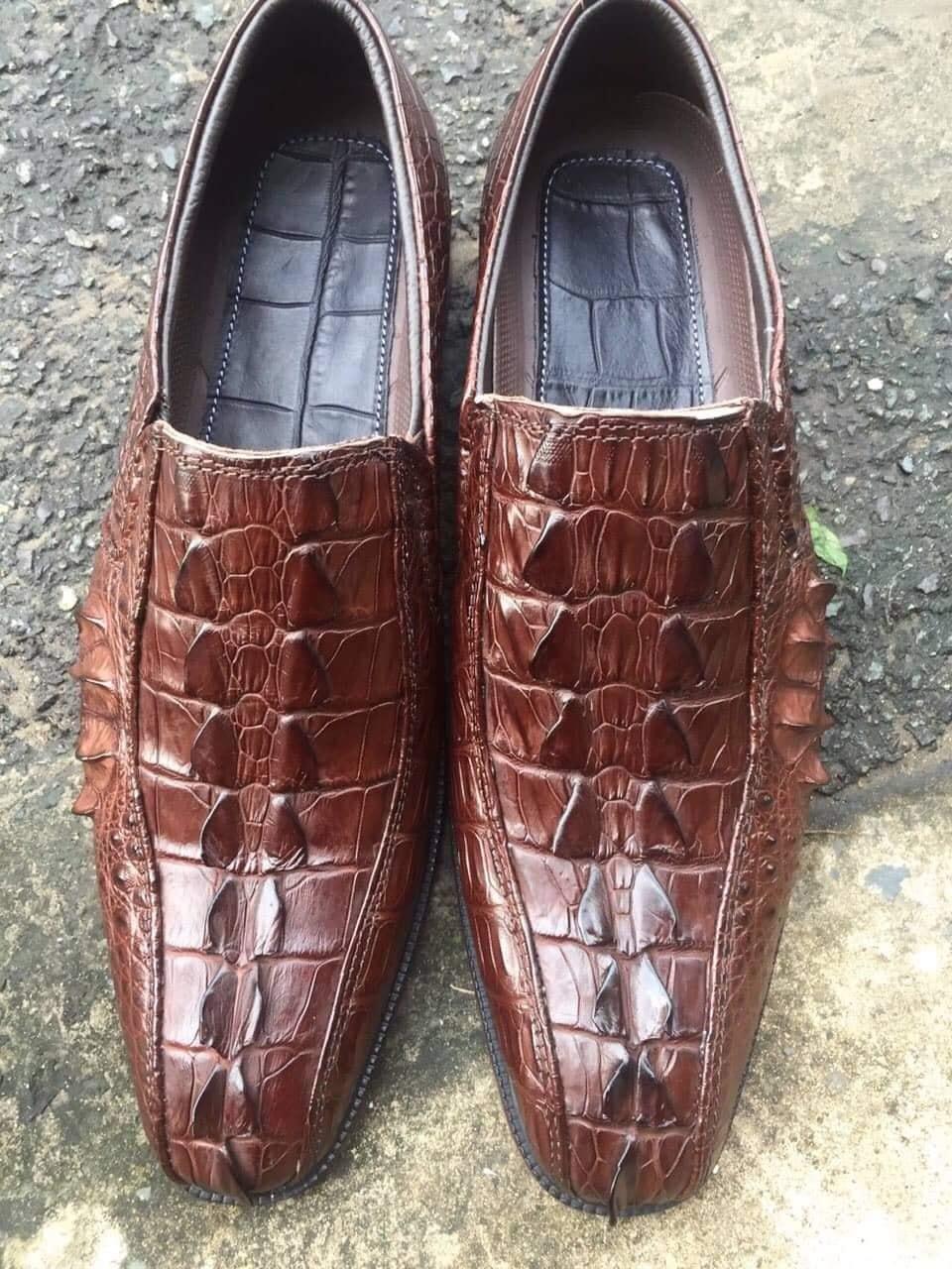 Giày Tây Da Cá Sấu HBGTDCS02