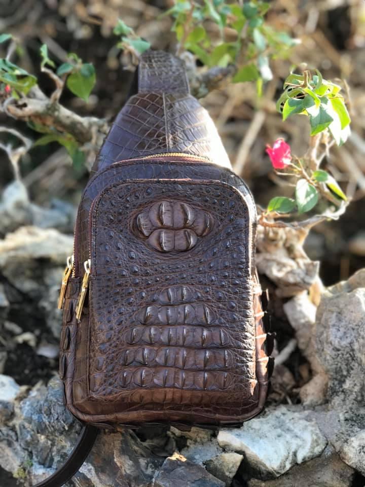 Túi đeo chéo da cá sấu Gù HBTDCDCS04