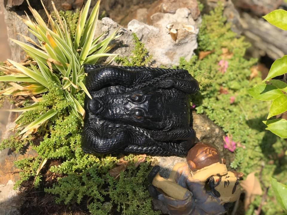 Ví Da cá sấu Nguyên Con HBVDCSNC01